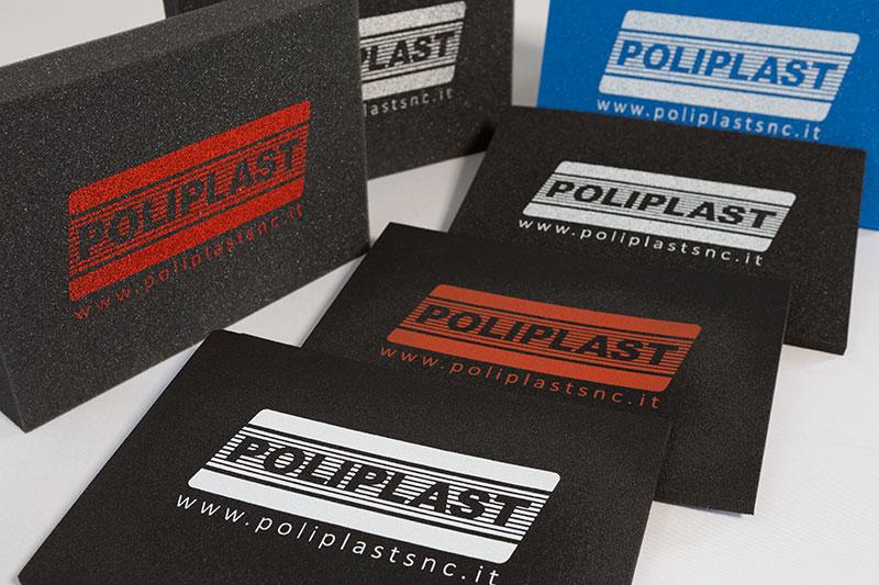 Imballaggi in poliuretano e polietilene serigrafati