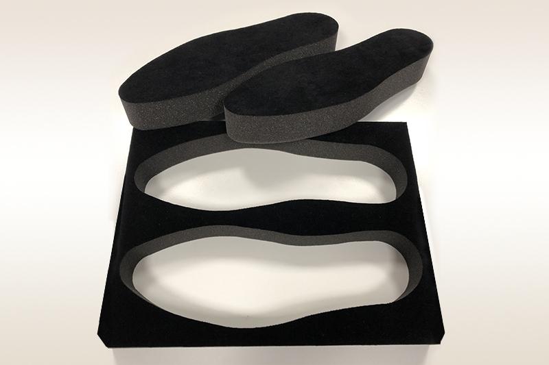 Imballo floccato nero scarpe