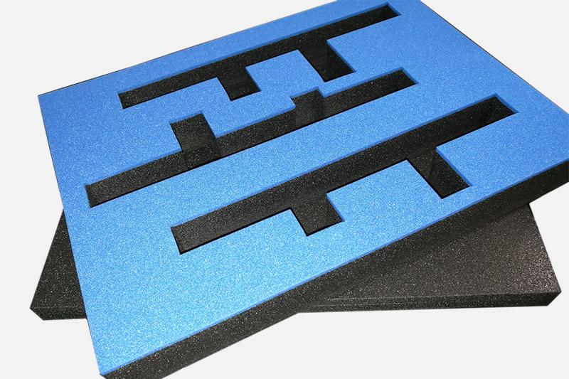 Imballaggio polietilene bicolore blu-nero